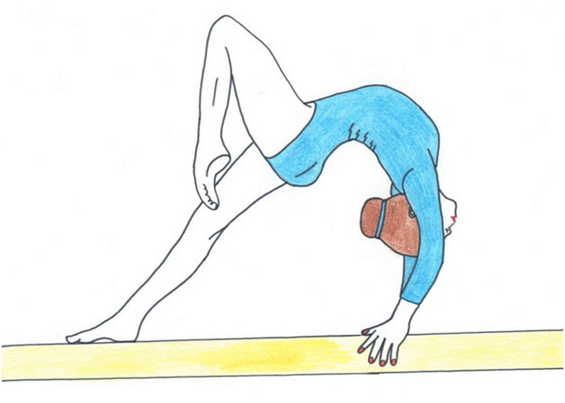 Рисунки гимнасток лёгкие